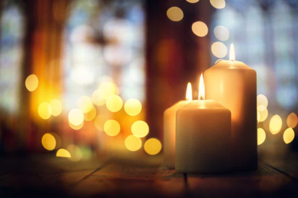 Holiday candles to light the room